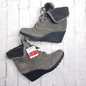 White Mountain Gray Fleece Lined  Booties